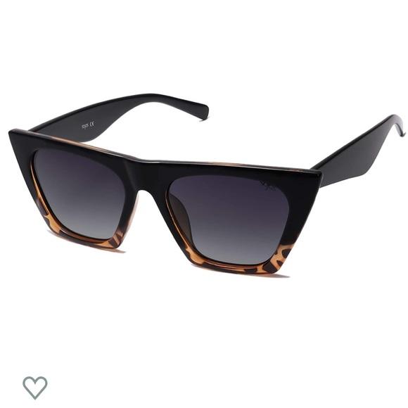 Tortoise detail cat eye sunglasses